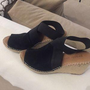 Black  wedge sandals by Gentle Soul